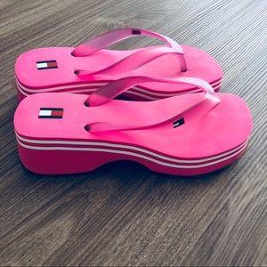f8ffc80c713 Tommy Hilfiger Shoes - Tommy Hilfiger wedges flip flops pink 8